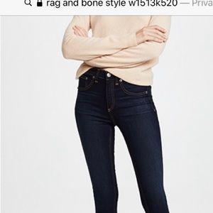 Rag and Bones HIgh Rise Skinny Distressed W26 L 31
